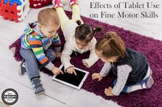 The researchers concluded that tablet use might be disadvantageous for the fine motor skill development of preschool children. Motor Activities, Activities For Kids, Best Tablet For Kids, Mobiles, Fine Motor Skills Development, Pediatric Occupational Therapy, Kids Tv, Pediatrics, Kids Playing