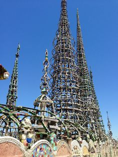 Watts Towers of Simon Rodia State Historic Park in Los Angeles, CA