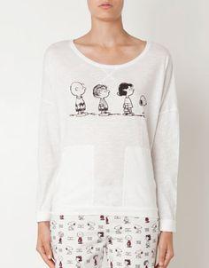 Oysho Snoopy & friends top