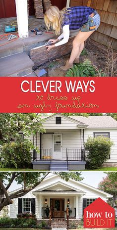 ideas home improvement diy on a budget ideas curb appeal ideas home imp. - ideas home improvement diy on a budget ideas curb appeal ideas home improvement diy on a b - Home Improvement Projects, Home Projects, Panel W, Diy Foundation, Exterior Makeover, Diy Exterior, Exterior Remodel, Up House, Diy On A Budget