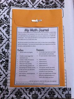 Journal Expectations- inside front cover