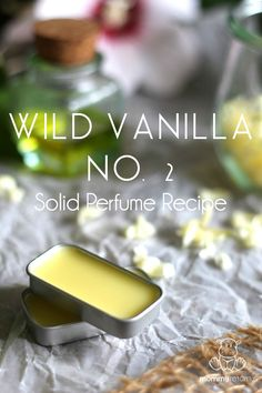 "Wild Vanilla Solid Perfume Recipe With a serious smile and a thick Puerto Rican accent . The island doctor spoke fifteen words I'll never forget. ""I have to make sure you're not drunk, not crazy . and you don't have syphillis."" It was my wedding Perfume Hermes, Perfume Diesel, Perfume Bottles, Vanilla Essential Oil, Essential Oil Perfume, Essential Oils, Vanilla Oil, Vanilla Cream, Doterra Essential Oils"