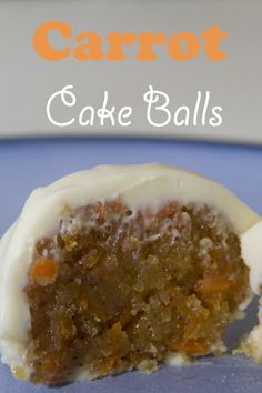Carrot Cake Balls ... This would be fantastic for a wedding shower, but really, anytime anywhere suits me just fine. Looks crazy decadent & just right for me.