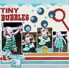 Tiny Bubbles by Jodi Wilton for #Imaginisce