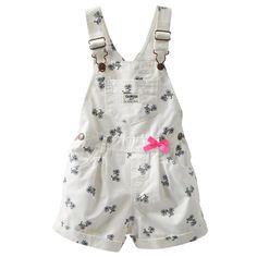 Overol para Niña Blanco Moño Rosa Oshkosh - Bebitos $292 #rebajas #oshkosh #kids #verano