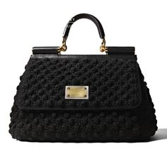 Dolce & Gabbana Miss Sicily Crochet Bag as seen on Victoria ...