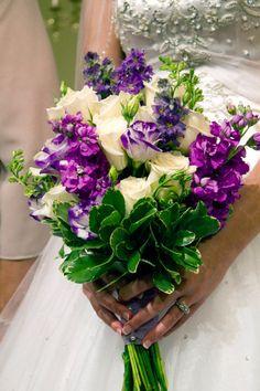 Stock, Roses, Lisianthus bouquet