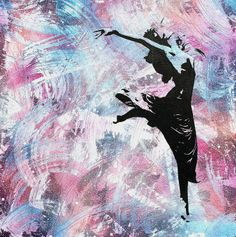ARTFINDER: Tail feather by Benjamin McKay - Painting of a dancer in Spray Paint and Acrylic with paint markers on deep edge canvas.