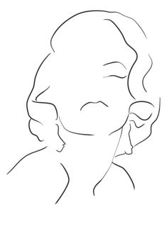 Marilyn Monroe portrait poster, a minimal line drawing of the vintage icon, Marilyn Monroe. Marilyn Monroe Dibujo, Marilyn Monroe Drawing, Marilyn Monroe Portrait, Marilyn Monroe Tattoo, Minimalist Drawing, Minimalist Art, Outline Art, Abstract Line Art, Art Deco Posters