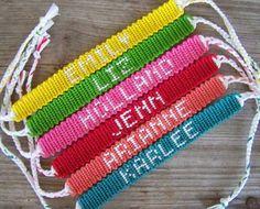 Reserved For Katie Small Alpha Name Team Friendship Bracelet Font 1 Custom Order Form Braided Bracelets