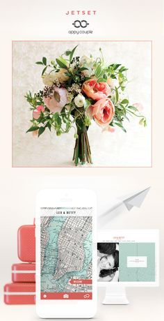 Brand new Appy Couple wedding site designs. I love this one with the pop of coral called JetSet for those of you having a destination wedding http://www.appycouple.com/?utm_source=WC_social&utm_medium=Social&utm_campaign=WeddingChicks_SocialPosts_Spring2014