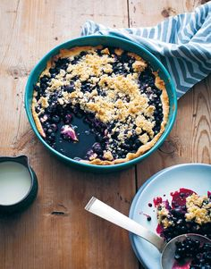 Blueberry & elderflower pie recipe from The New Nordic by Simon Bajada | Cooked