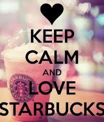 Love Starbucks #keepcalm #starbucks