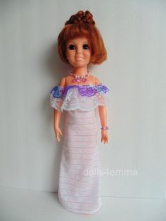 """New style! """"LADY LAVENDER"""" - Gown and Jewelry Set for 18"""" Crissy dolls: available on ebay ~ by dolls4emma"""