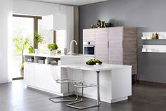 METOD keuken met een modern kookeiland | #IKEA #IKEAnl #keukens #kookeiland #modern #wit