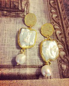 #earrings #pearls #baroque