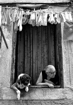 such a fun photo with this dog peeking too out the window; black and white; preto e branco; Black White Photos, Black And White Photography, Tanz Poster, Vintage Photography, Art Photography, Street Photography People, Foto Poster, Belle Photo, Old Photos