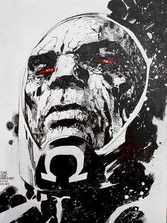 Comic Villains, Dc Comics Characters, Comic Books Art, Book Art, Buu Dbz, Darkseid Dc, Jim Lee Art, Jack Kirby Art, Fourth World