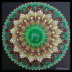 Christmas Dot Art Mandala