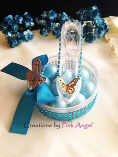 Glass Slipper Favors Cinderella Inspired by CreationsByPinkAngel