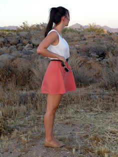LunaVida: Colorblock Dress, Flats, Striped Sunglasses #giveaway