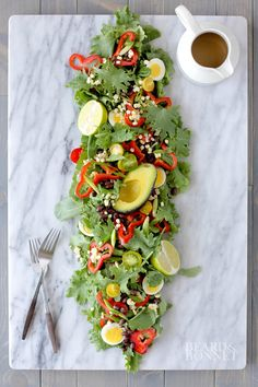 Southwest Baby Kale Salad with Cumin-Ginger-Sage Dressing and A Giveaway {Beard and Bonnet} #glutenfree