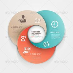 Modern business circle origami style options banner Vector illustration can be used for workflow layout, diagram, number… Web Design, Game Design, Layout Design, Circle Infographic, Infographic Templates, Infographics Design, Festival Off, Circle Template, Circle Diagram