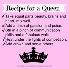 Recipe for a queen.