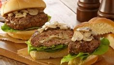 StufZ Presents: Mushroom and Swiss Stuffed Burgers