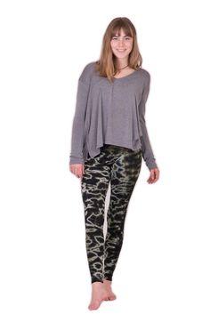 Black Grey Mix Leggings $24.00 Tie Dye Leggings, Green And Grey, Capri Pants, Pajama Pants, Sweatpants, Comfy, Fabric, Cotton, Collection