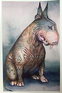 Bully Tattooed English Bull Terrier