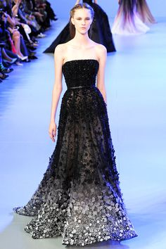Dark Romance Floral Fashion Trends Elie Saab Spring Summer 2014 #couture #fashion #black #gown