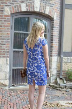 Holiday Style in Blue Lace | Style in a Small Town