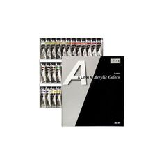 Acrylic Color Paint Alpha Silver Set 36 Colors 20ml 0.67oz Tube  #Alpha