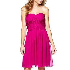 Lilianna Strapless Dress Fuschia Pink Magenta- jcpenney