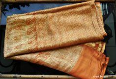 Rust color Vintage Sari fabric Indian sari silk sari brocade sari by VedahDesigns on Etsy