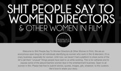 Yet with all this awareness, being a woman in the film industry doesn't seem to be getting much easier. And that's where this Tumblr comes in.   People Are Telling Their Stories On This Tumblr To Show How Sexist The Film Industry Is - BuzzFeed News
