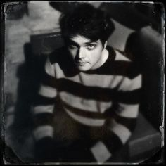 Gerard Way and that striped sweater.