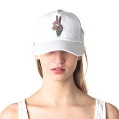 Omni Peace Trucker Hat White, $29,  by Brokedown !!