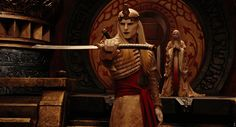 Prince Nuada Silverlance, played by Luke Goss in Hellboy II, stunt double Damien Walters...