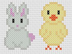 Bunny and Chick -Easter Cross Stitch Pattern