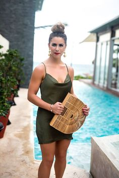 olive you mexico olive cowl neck dress olive dress date night in mexico silk dress olive silk dress colorful flats gold ball earrings japanese basket purse cult gaia purse what to wear in mexico what to wear to a fiesta