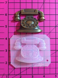 Vintage telephone flexible plastic resin chocolate  mold by MoldsbyMia on Etsy https://www.etsy.com/listing/223232204/vintage-telephone-flexible-plastic-resin