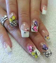 Spring Nails, Summer Nails, Finger Nail Art, Modern Nails, Manicure, Stickers, Finger Nails, Templates, Space Nails