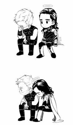 Thor and Loki Infinity War