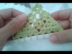 Bico de crochê carreira única #116 para panos de prato ou toalhas - YouTube
