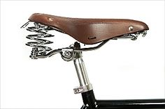 Brooklyn Cruiser Gyes Dual Coil Leather Bicycle Saddle