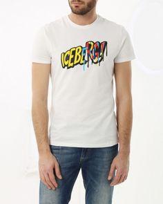 T-shirt with maxi-logo Iceberg