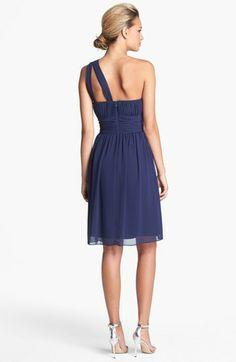 Donna Morgan 'Rhea' One-Shoulder Chiffon Dress | Nordstrom...bridesmaid dress?