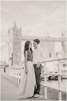 Romantic Riverside London Engagement Shoot